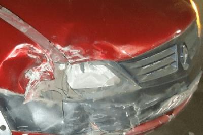 В Мичуринске женщина в результате аварии получила перелом голеностопа