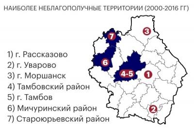 """В Тамбовской области назвали самые """"пьющие"""" города и районы"""