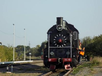На вокзал в Тамбовской области приехал раритетный паровоз