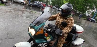 Липецкий байкер Артем Кравченко отправился сегодня в кругосветное путешествие