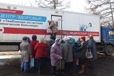"""Врачи автопоезда """"Забота"""" осмотрели более 300 пациентов в Знаменском районе"""