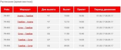 С июня тамбовчане смогут летать в Сочи и Анапу
