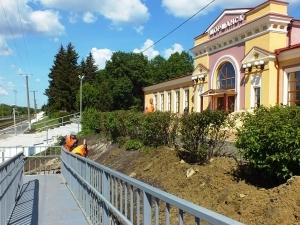 В Моршанске завершаются работы по реконструкции здания и благоустройству территории железнодорожного вокзала
