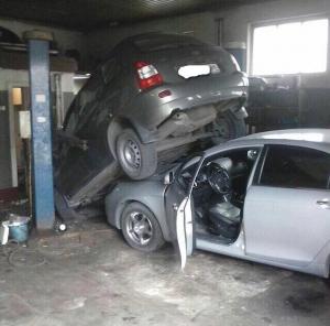 Тамбовчанка устроила ДТП в автосервисе