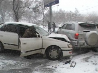 Мокрый снег стал причиной лавины ДТП в Тамбове